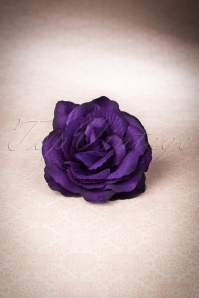 50s Bring Me Flowers Daily Hair Clip in Purple
