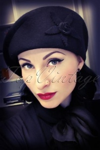 50s Cora hat in black