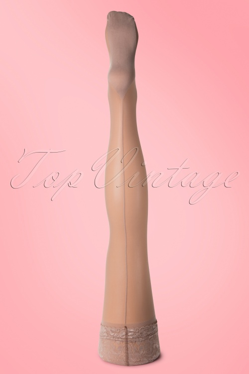 Scarlet Classic Seamer Tights Nude 10583 1