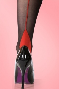 Scarlet Classic Seamer Tights Red 10585 4