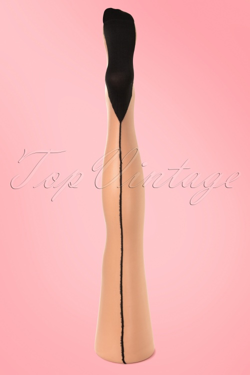 Scarlet Classic Seam Nude Tights 10586 2