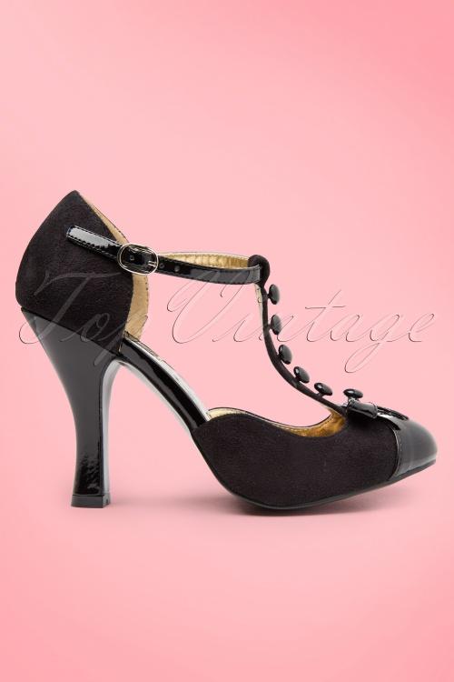 Pleaser Femmes Sexy Pompes 27-d-ceinture - Noir (noir), Taille: 36