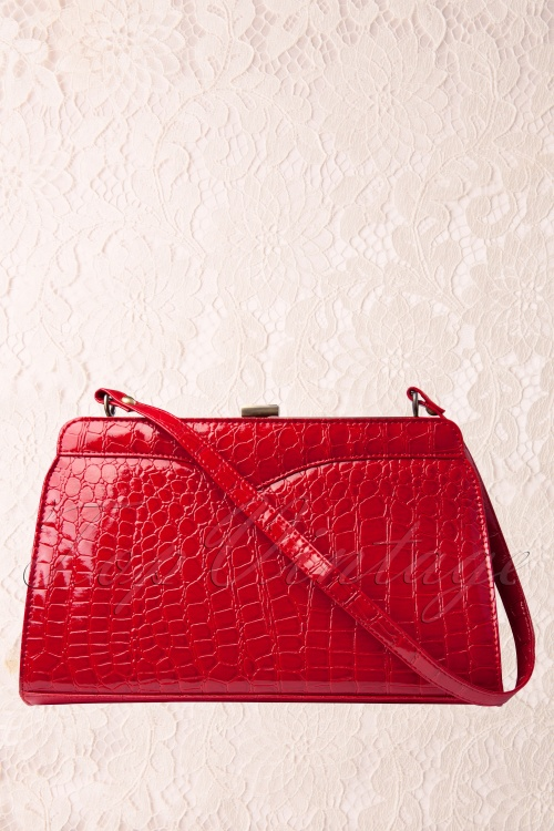 Retrolicious 50s Scarlet hand bag croc red 88 3787 01AW