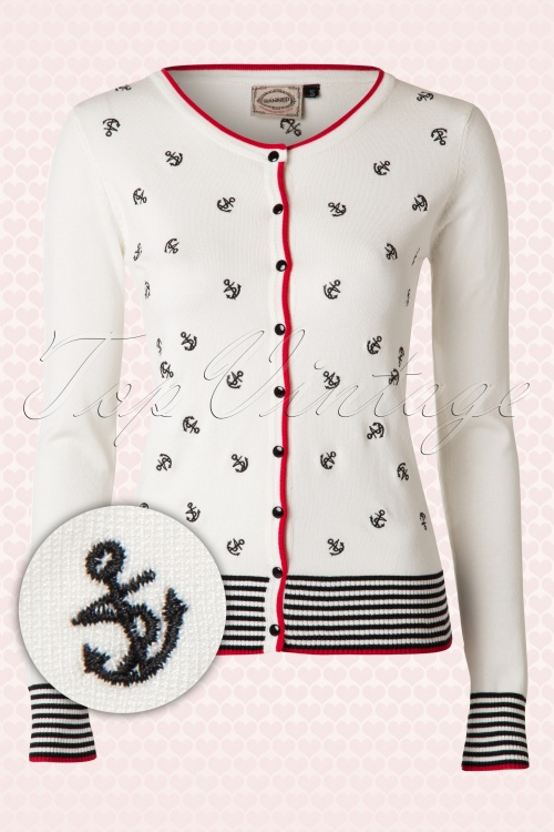 Banned White Anchor Sailor Cardigan 140 59 14699 20150203 0003W2
