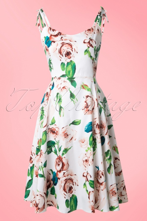 Collectif Clothing Janie Floral Swing Dress 14765 20141213 0017W