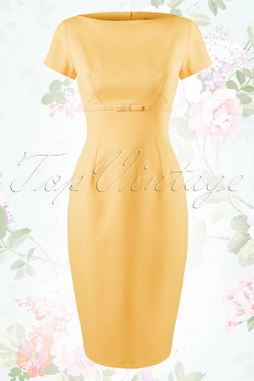 Glamour Bunny Sherie Pencil Dress Soft yellow 100 22 14559 20150204 0006W