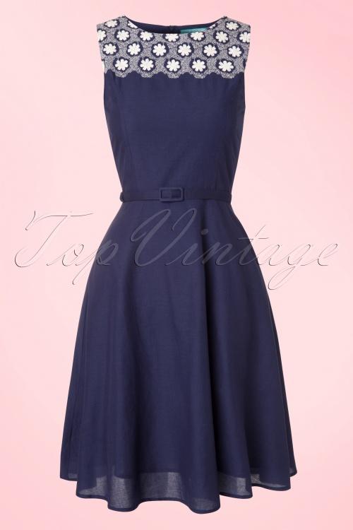 Fever Bellis Navy Blue White Floral Dress 105 31 13940 20150310 0004W