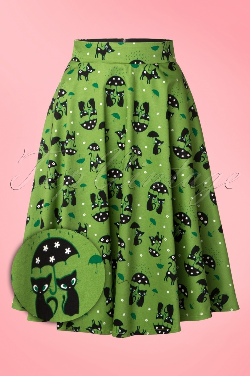 Vixen Green Cat Swing Skirt 125 49 15249 20150208 0005WV