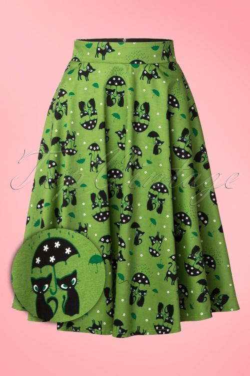 Vixen Green Cat Swing Skirt 125 49 15249 20150208 0005WV