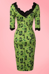 Vixen Green Fun Pencil Cat Dress 100 49 15246 20150208 0005W