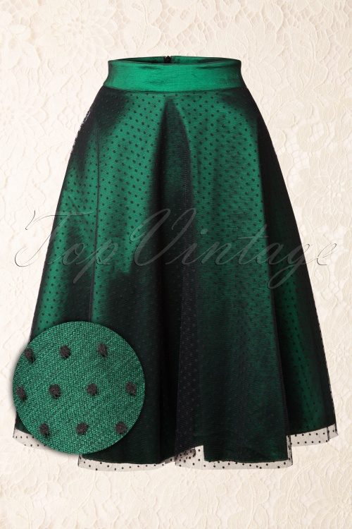 Vixen Green Black Polkadot Party Skirt 122 49 15268 20150208 0010WV