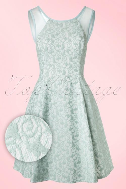 Ongekend 50s Picardie Lace Dress in Mint Green ZG-51