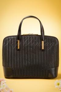 50s Lady Braidy Leather Handbag in Black