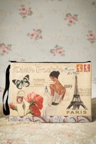 A Postcard From Paris Make-up bag Années 1960