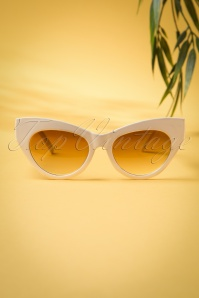 50s Ida Retro Sunglasses in Cream