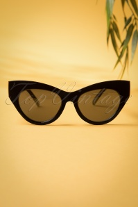 50s Ida Retro Sunglasses in Black