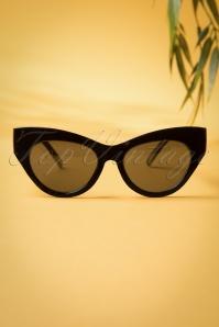Ida Retro Sunglasses Années 1950 en Noir