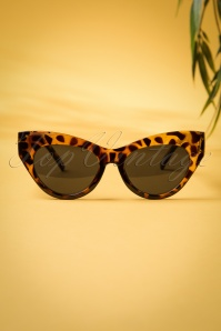 50s Ida Retro Black Sunglasses in Tortoiseshell