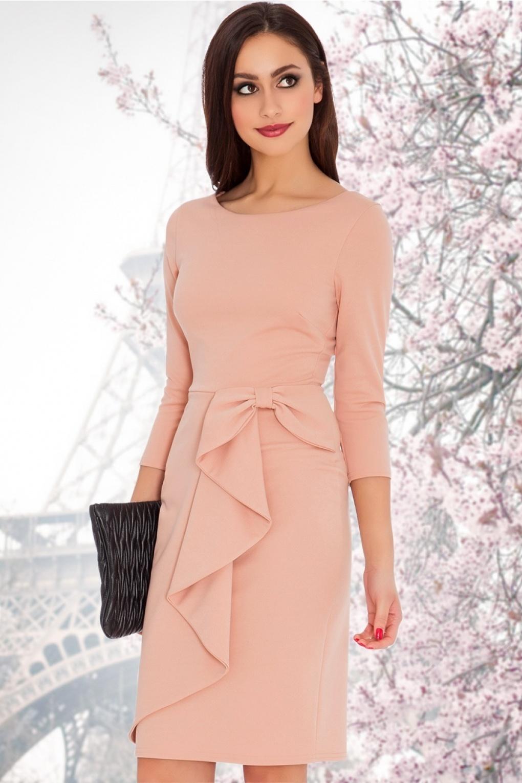 Dress Blush Waterfall 50s Midi Vicky In dtshQrC