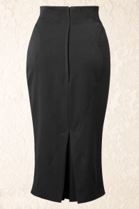 Miss Candyfloss Agnes Rose Black Pencil Skirt 120 20 14855 20150219 0006W