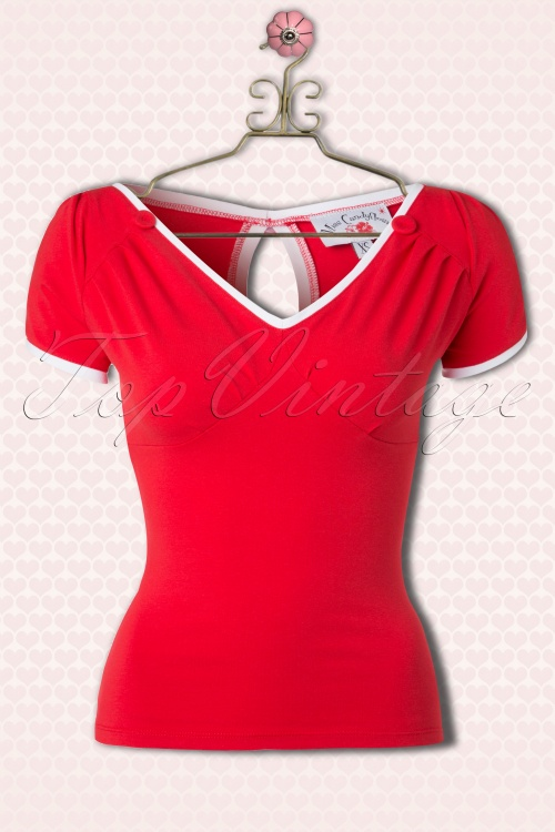 Miss Candyfloss Red White Cute Top 111 20 14897 20150221 0005Haakje