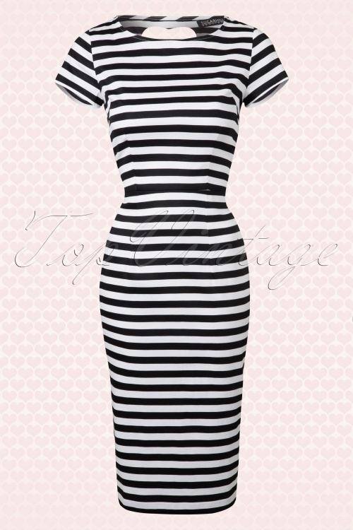 Sugar Striped Heart Pencil Dress 100 14 14495 20150219 0005W