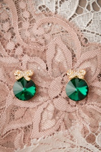 50s Giftwrapped Emerald Diamond Earrings