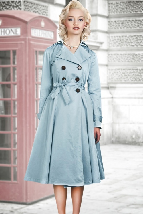 Dietrich Swing Trench Blue Closed TwoV