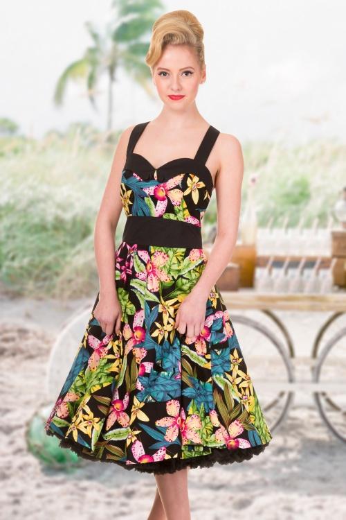 Banned Everlong Halter Tropical Floral Print Dress 150 14 14685 7