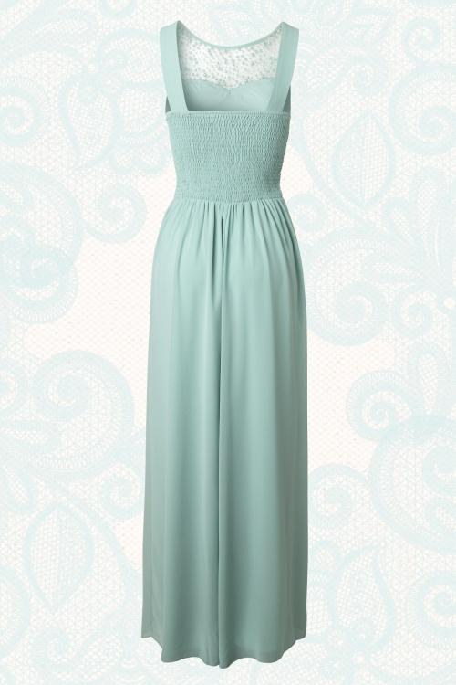Mintgroene Maxi Jurk.50s Cinderella Embellished Detail Maxi Dress In Mint