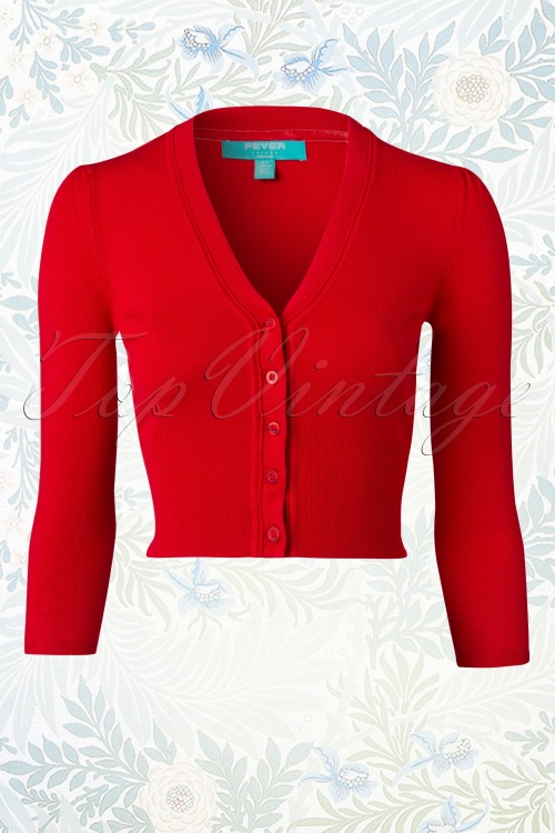 Fever Mariel Red Short Cardigan 140 20 12152 20150304 0004W