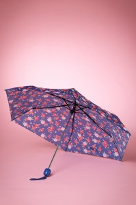 So Rainy Floral Navy Umbrella 270 39 15658 03082015 03