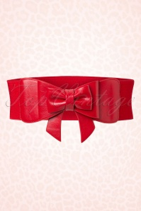 Play It Right Bow Belt Années 50 en Rouge