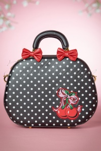 40s Lucille Polkadot Bag in Black and White