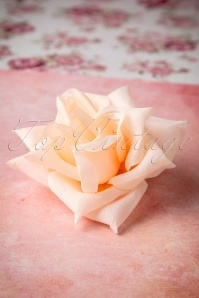 50s A Rose Is A Rose Is A Rose In Peach Hair Clip Brooch