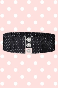 50s Retro Polkadot Belt in Black and White