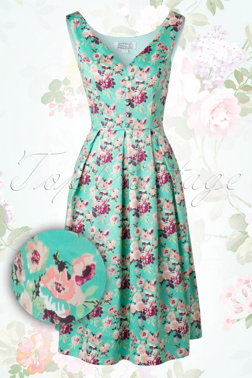 Whispering Ivy Green Floral Dress 102 49 14814 03232015 10W1