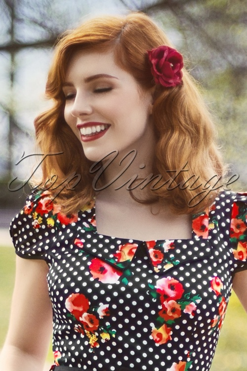 Heart of Haute Red Rose Hairflower 10557 1W