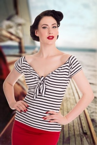Bunny Dolly Striped Sailor Bow Top 110 27 14658 1