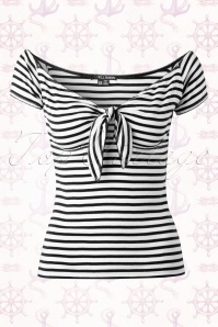 Bunny Dolly Striped Sailor Bow Top 110 27 14658 20150331 0003W
