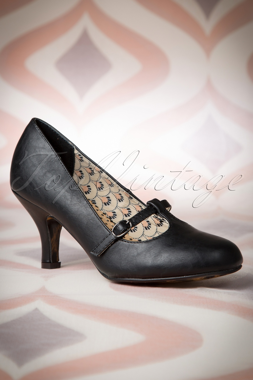 50s Bettie Pumps in Black VptgoYZl