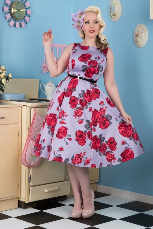 Lady V Red Roses Swing Dress 102 69 15472 1