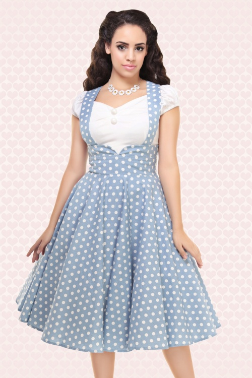 Collectif Clothing Mary Vintage Polkadot Swing Skirt 14797 5