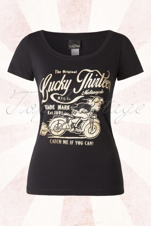 Lucky 13 Catch Me If You Can Motorcycle Black Top 111 10 15066 20150415 0005W
