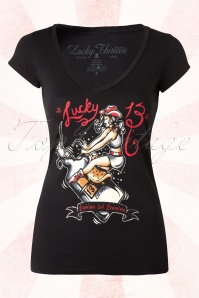 Giddy-Up T-Shirt Années 1950 en Noir