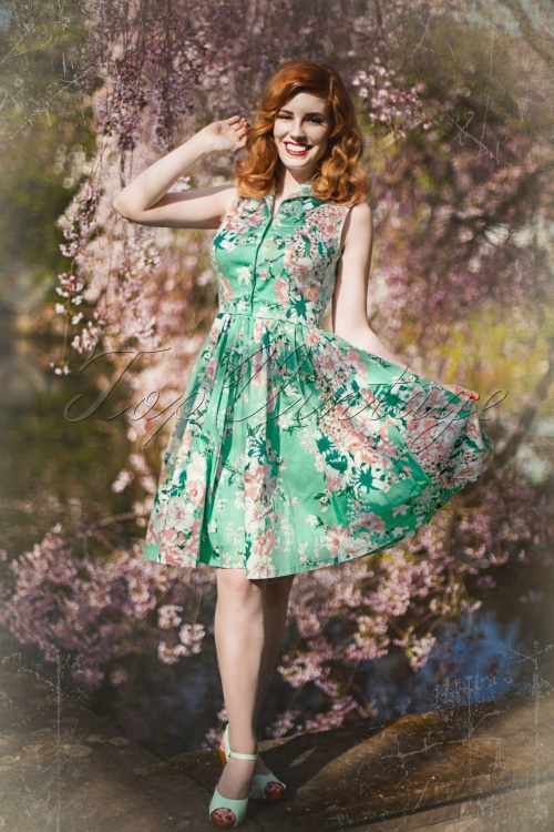 Vixen Green Floral Dress 10754 1scratch