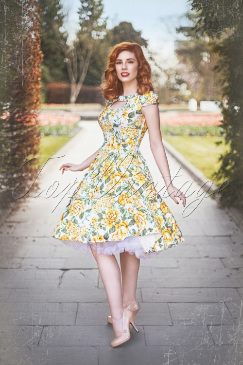 Hearts And Roses 50s Yellow Floral Dress 102 59 15182 20150226 1scratch