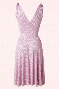 Vintage Chic 50s Grecian Pink Polkadot Dress 102 29 15666 20150521 0003w