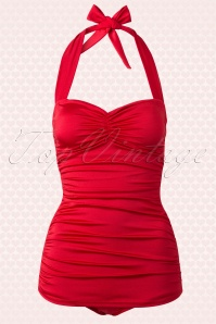 Esther Williams Classy 50s Red Bathing Suit 161 20 15572 20150521 0002W