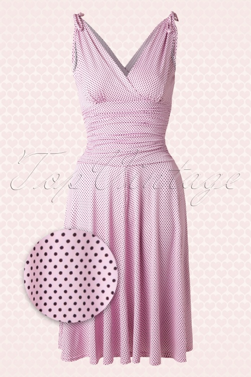 Vintage Chic 50s Grecian Pink Polkadot Dress 102 29 15666 20150521 0009aw